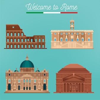 Architecture de rome. tourisme italie