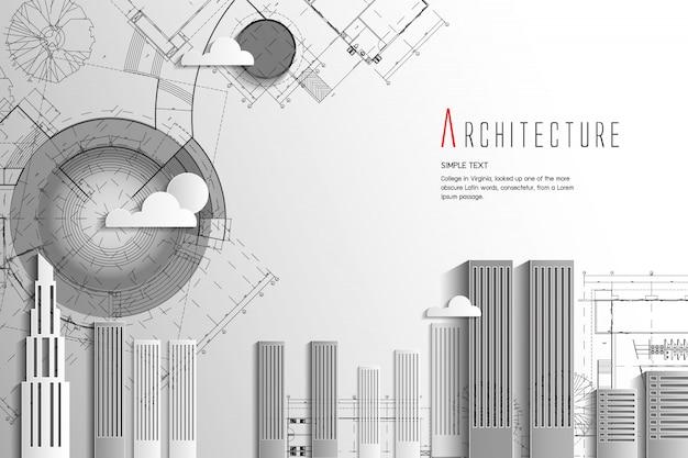 Architecture et style art background.paper.