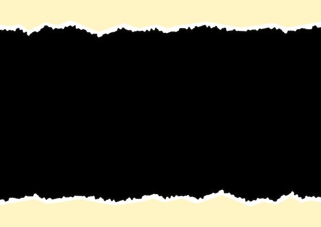 Arêtes déchirées du gabarit en papier pour l'élément de conception de cadre photo