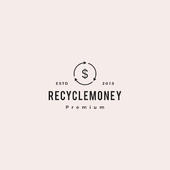 Argent cashflow recycle logo icône illustration