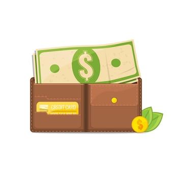 Argent dans le portefeuille