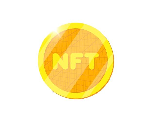 Argent en ligne de jetons d'or non fongibles nft pour acheter de l'art exclusif payer pour des objets de collection uniques dans les jeux