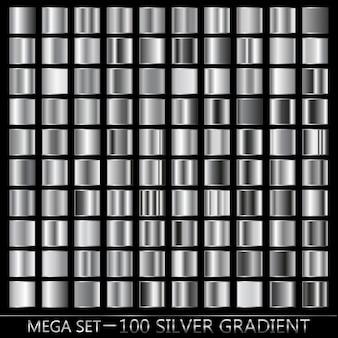 Argent, noir, dégradé blanc en texture métallique