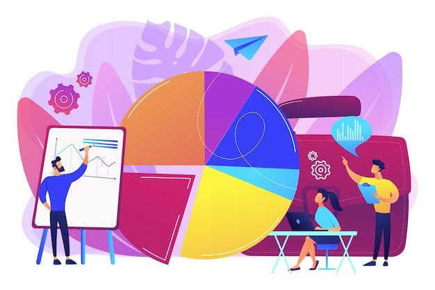 Argumentaire de vente. élément de visualisation de données, graphique marketing. données de recherche. statistiques commerciales, rapport financier, concept d'analyse des performances de l'entreprise.