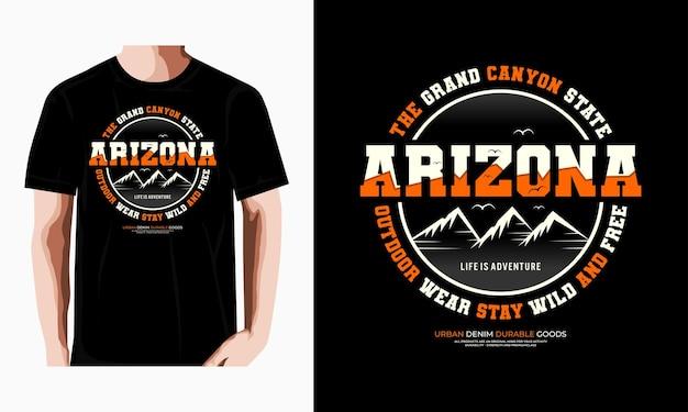 Arizona typographie tshirt design vecteur premium vecteur premium