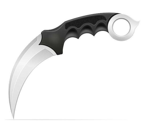 Arme de couteau de combat pour tuer l'illustration isolée sur fond
