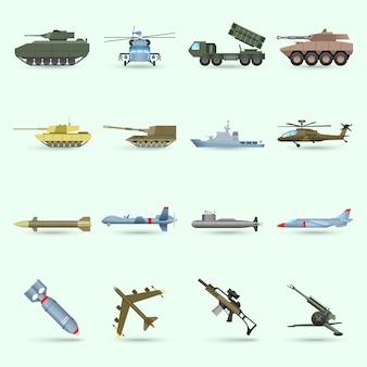 Armée icons set
