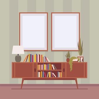 Armoire avec tiroirs pour ranger les livres