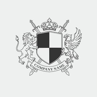 Armoiries royales pour logo de l'entreprise
