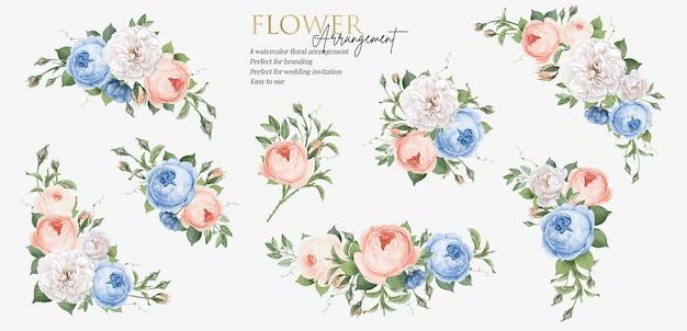 Arrangement de bouquet de fleurs bel ensemble