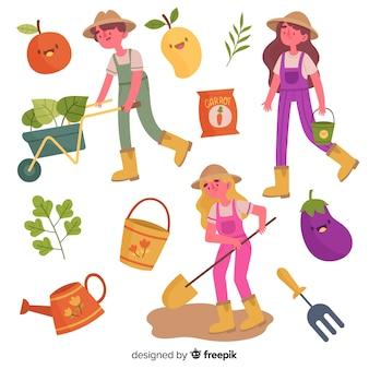 Arrangement d'éléments pour l'agriculture