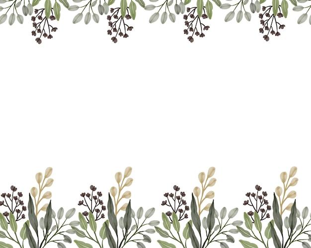 Arrangement de fleurs sauvages sur fond blanc