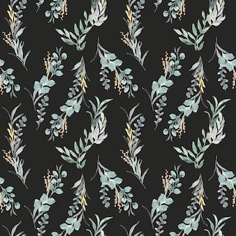 Arrangements de feuilles avec motif aquarelle