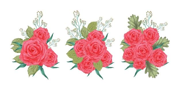 Arrangements de fleurs aquarelle