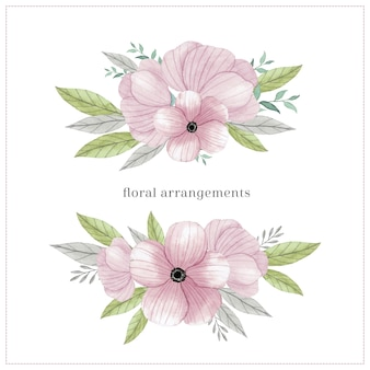Arrangements floraux pastels tendres