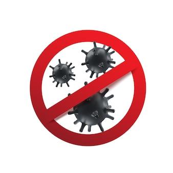 Arrêt du coronavirus. 2019-ncov, virus covid 19-ncp.