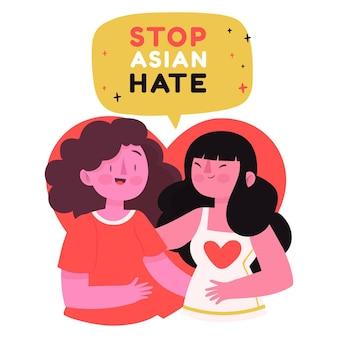 Arrêt plat bio haine asiatique