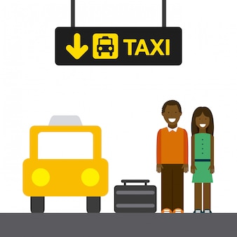 Arrêt de taxi