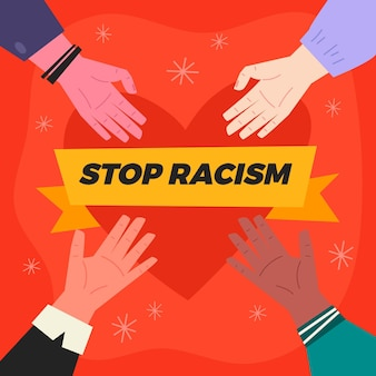 Arrêter le concept d'illustration du racisme