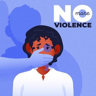 Arrêter la conception d'illustration de la violence de genre