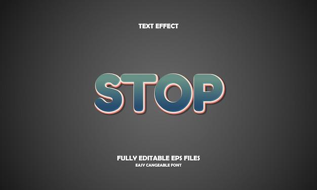 Arrêter l'effet de texte