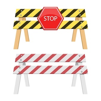 Arrêter l'illustration de la barrière isolée sur fond blanc