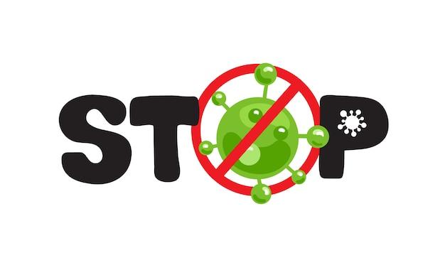 Arrêter le logo de l'épidémie covid19