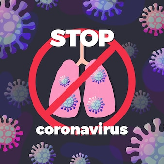 Arrêter le signe du coronavirus