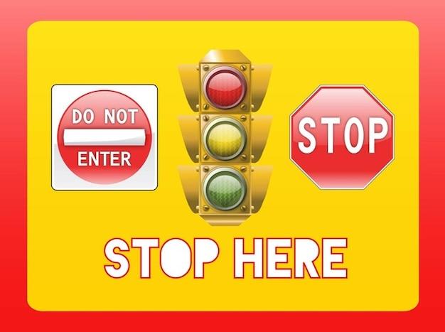 Arrêter les symboles et les sémaphores
