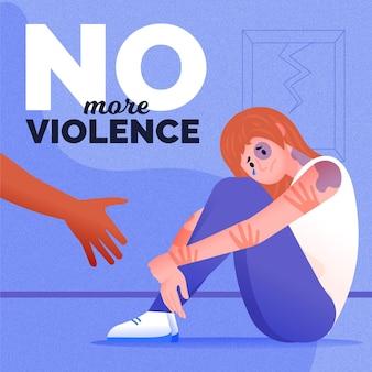 Arrêter le thème de l'illustration de la violence de genre