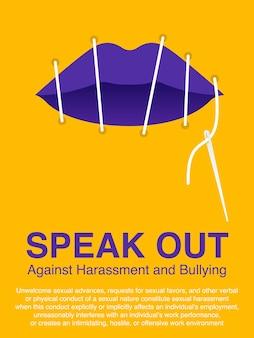 Arrêtez l'affiche de concept de violence contre les femmes.