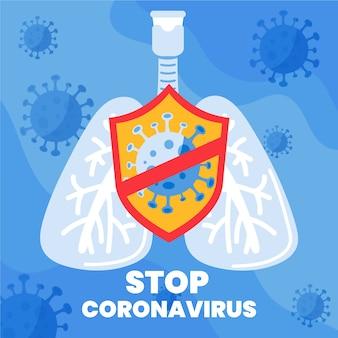 Arrêtez les bactéries pandémiques du coronavirus covid-19