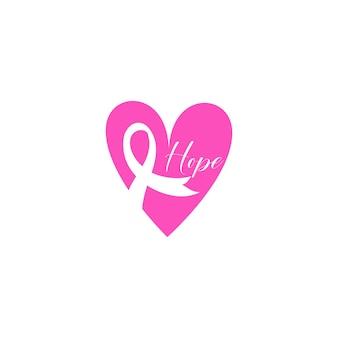 Arrêtez le cancer. combattre le cancer. lettrage de motivation. vecteur d'illustration de ruban rose