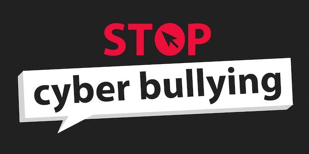 Arrêtez la cyberintimidation
