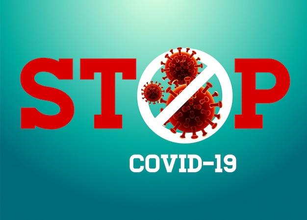 Arrêtez l'illustration du coronavirus.