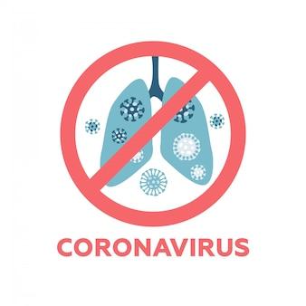 Arrêtez mers cov signe illustration, syndrome respiratoire du moyen-orient coronavirus signe