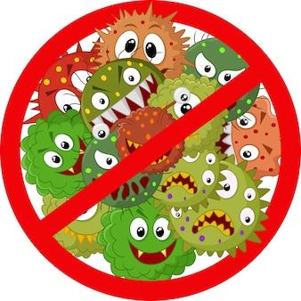 Arrêtez le signe du virus