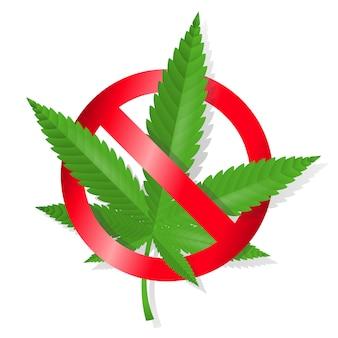 Arrêtez le signe de la marijuana