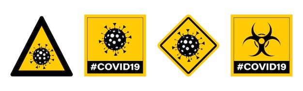 Arrêtez le virus. . panneau d'arrêt pandémique.