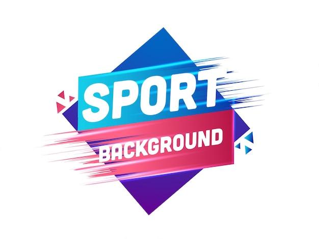 L'arrière-plan abstrait du sport peut être utilisé comme conception d'affiche.