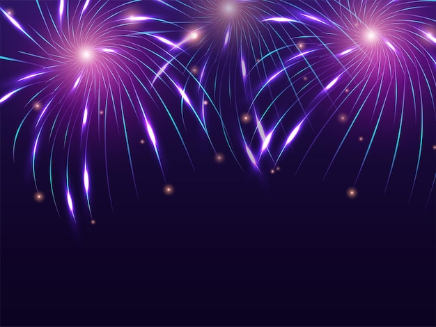 Arrière-plan abstrait de feux d'artifice pour la célébration de diwali ou du nouvel an.