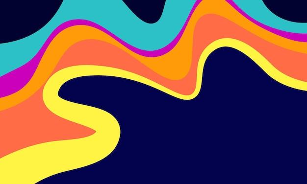 Arrière-plan abstrait de style ondulé coloré. conception pour la bannière.