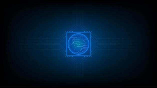 L'arrière-plan abstrait de la technologie entoure l'arrière-plan de conception de circuits de haute technologie et de technologie numérique. innovation conceptuelle. illustration vectorielle.