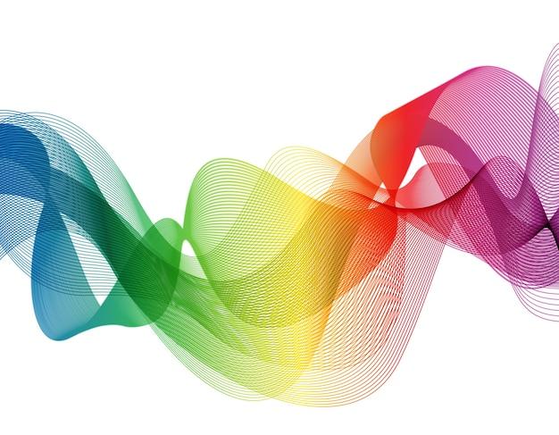 Arrière-plan abstrait vague coloré
