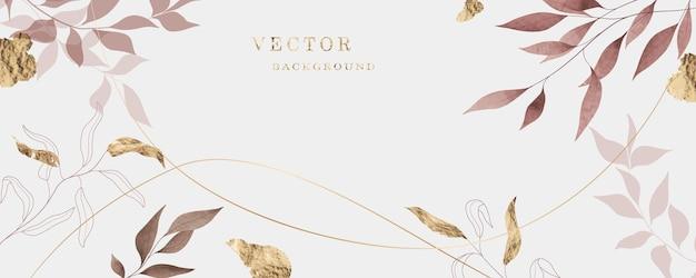 Arrière-plan d'art floral dans un style minimaliste pour la conception d'invitations, de bannières web, de réseaux sociaux, de textiles