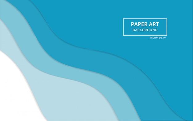 Arrière-plan de l'art en papier