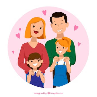 Arrière-plan de belle famille dans le style vintage