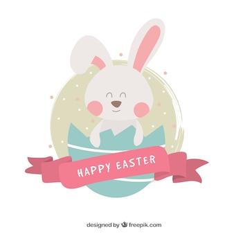 Arrière-plan de belle lapin de pâques heureux