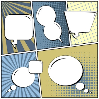 Arrière-plan blanc de style bande dessinée pop art.