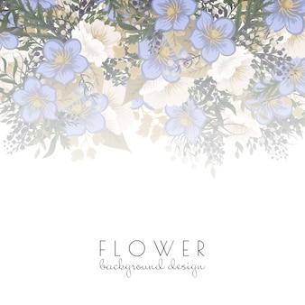 Arrière-plan de bordure de fleurs